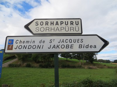 Le Chemin de st Jacques. - basque sign