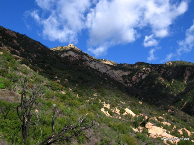The Mission Crag area as seen from theTunnel Trail approach.