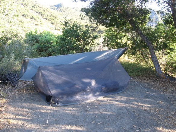 The Ray Way Tarp and Net Tent in star gazing mode. Los Padres National Forest, California.