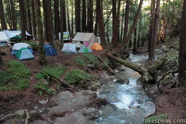 Limekiln State Park Campground Big Sur  Hikespeakcom
