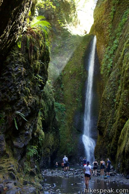 Lower Oneonta Falls  Oregon  Hikespeakcom