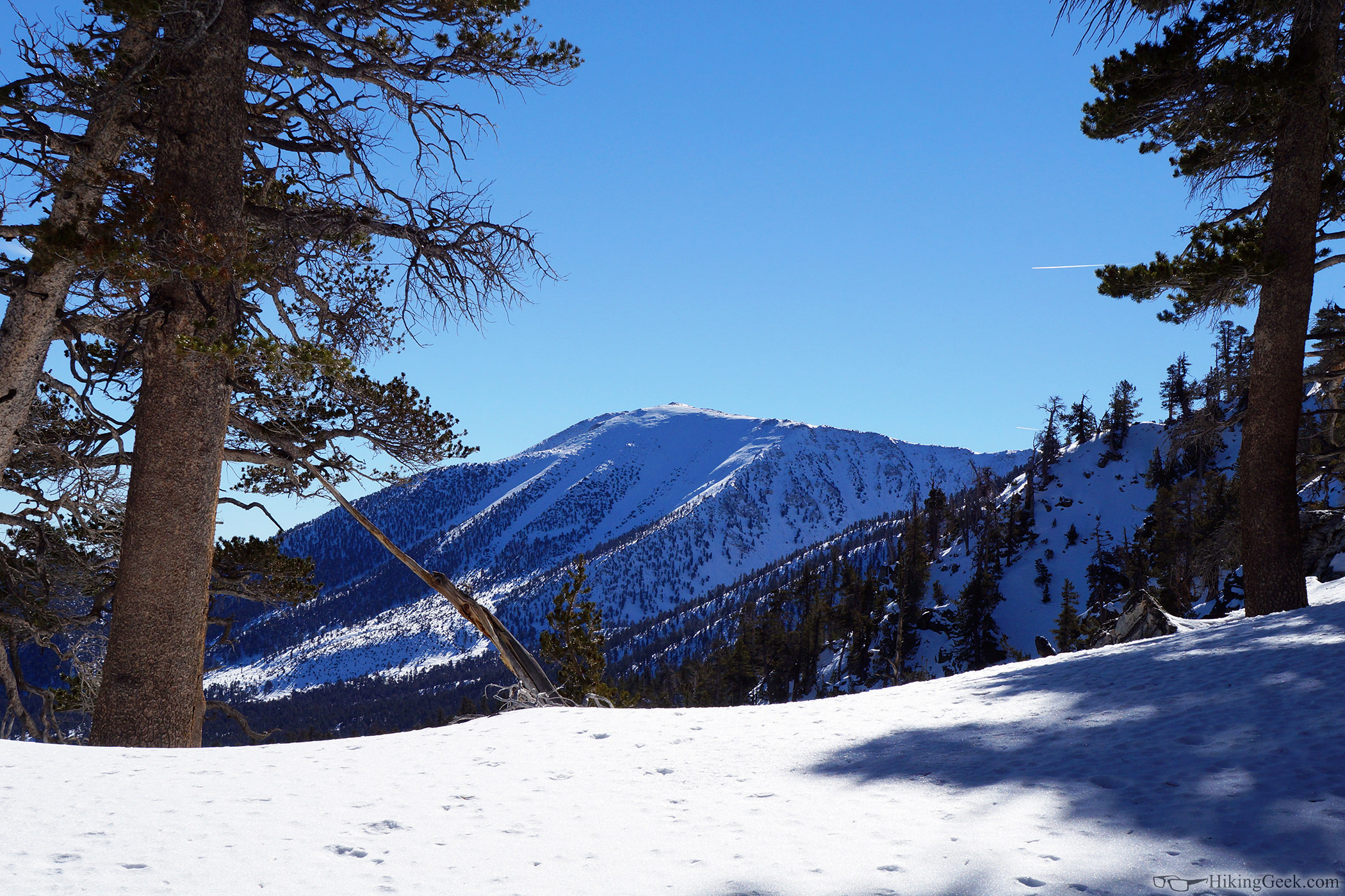 Alto Diablo Peak via 'Duct Tape Ridge,' Jan 17 2015