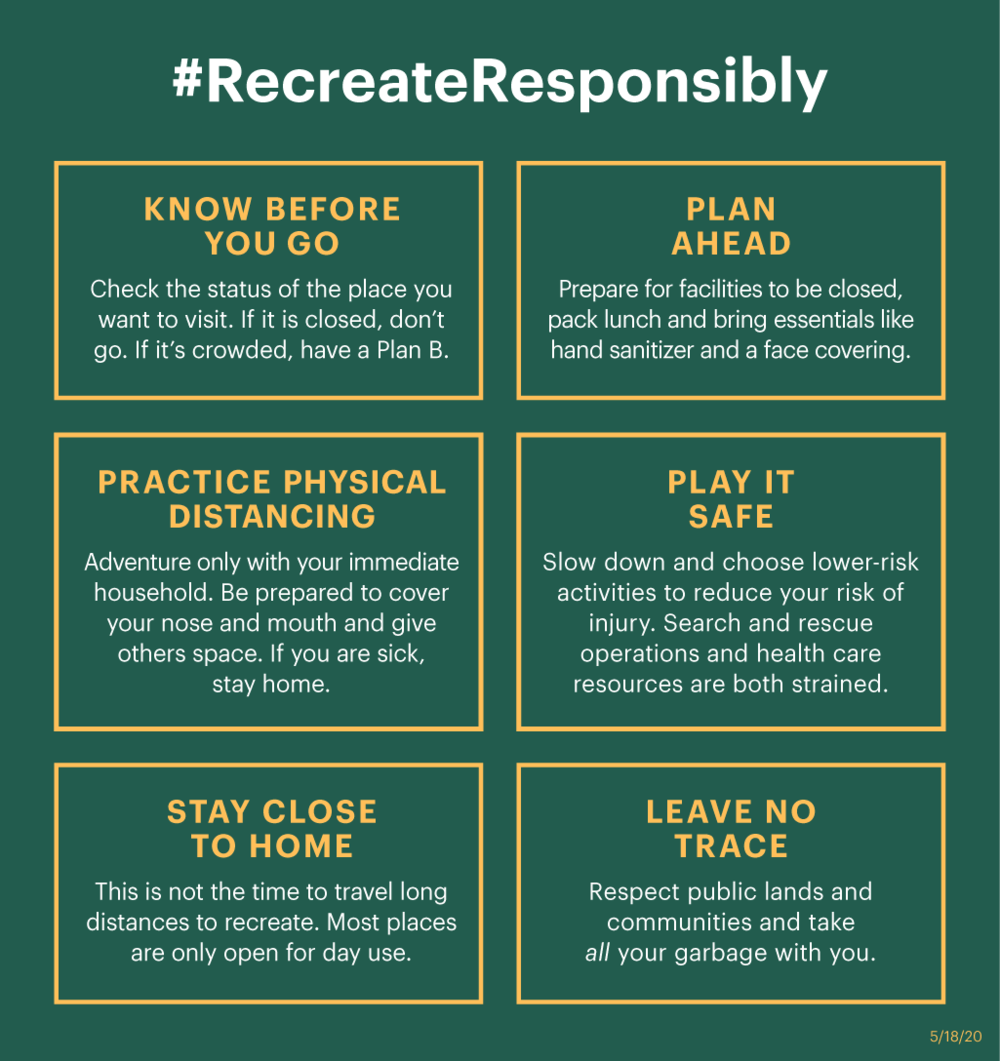 Recreate Responsibly