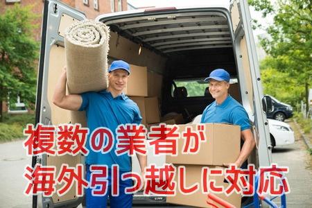 複数の業者が海外引っ越しに対応しています