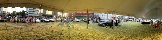 Panorama from under the tent
