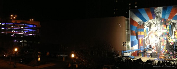 Eduardo Kobra Lexington KY Lincoln and parking helix
