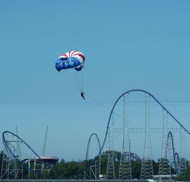 patriotic parasailing perspective