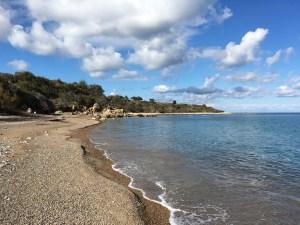 Empty beach near Latsi