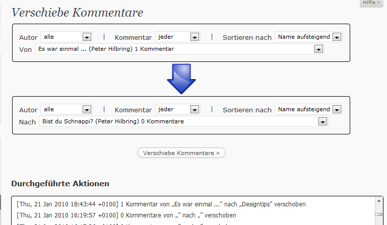 WordPress Plugin: Simple Move Comments