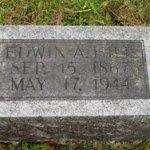 Edwin Allen Hill Tombstone