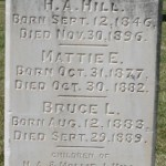Henry Abraham Hill Tombstone