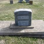 William Thomas Picket Tombstone