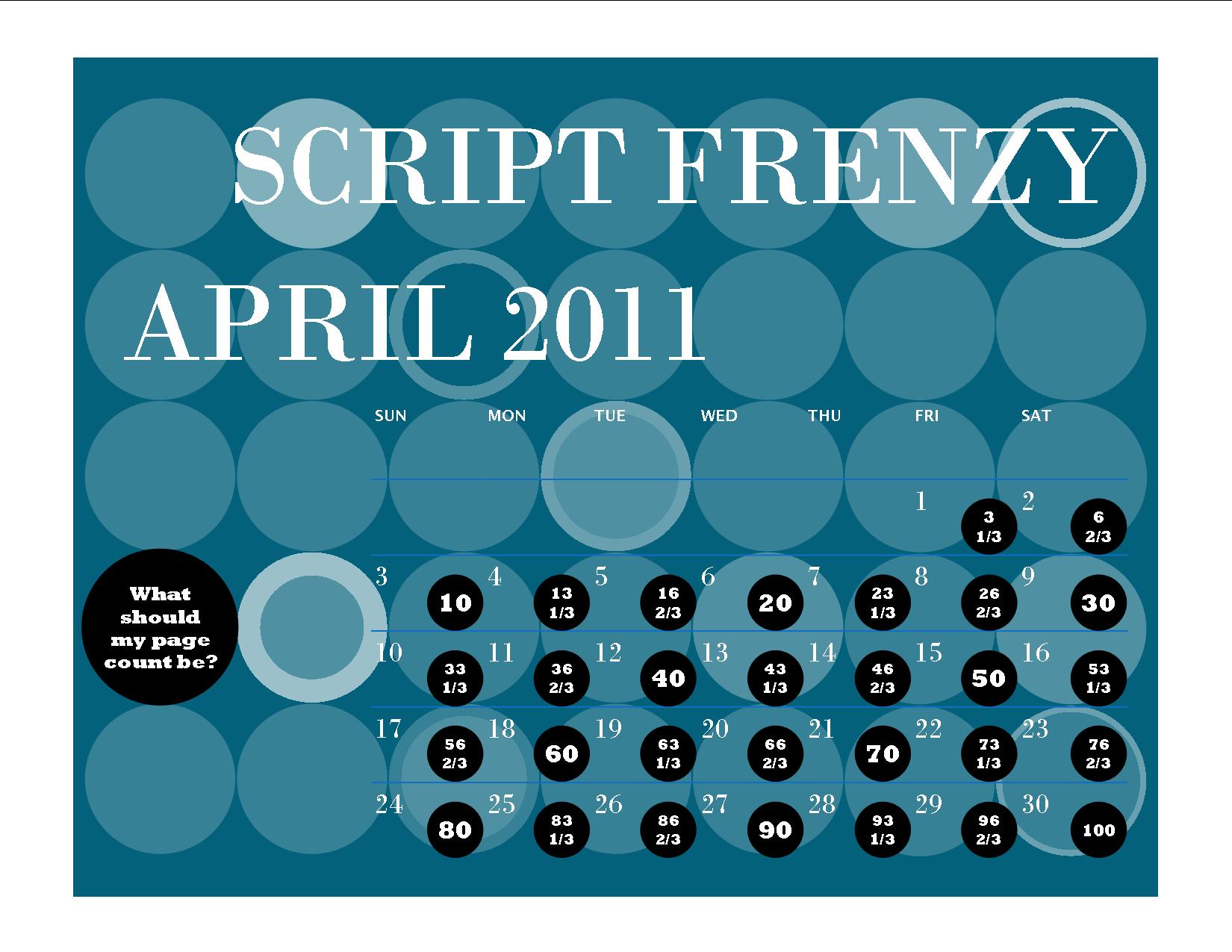 Script Frenzy Desktop Background Wallpaper Calendars (2011
