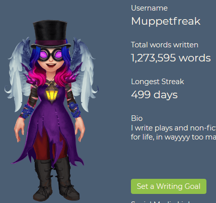 Picture of Muppetfreak's avatar on 4thewords