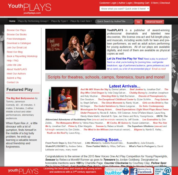 Youthplays homepage