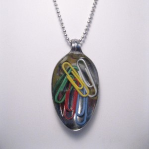 Paperclip Spoon Necklace   Hillary's Handmade