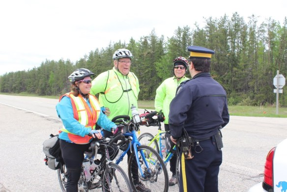 Police check stop for three speeding cyclists Click the photo for more images of day 25