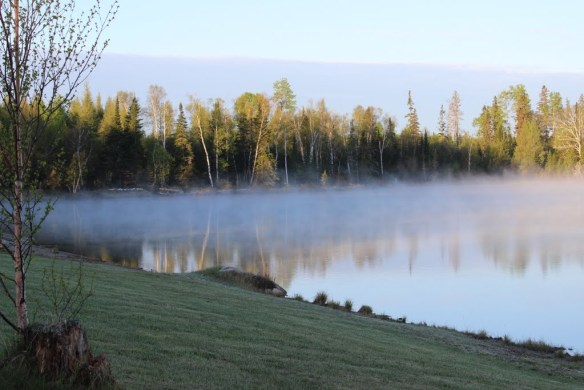 Fog on Milton Lake, Upsala, Ontario Click on the photo for more images from day 30