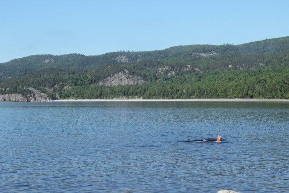 When Al's not driving the support vehicle, finding delicious baking, or taking photos, he's swimming in a lake! Click the image for more of his pics of this beautiful spot