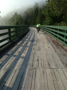 A misty trans Canada trail morning