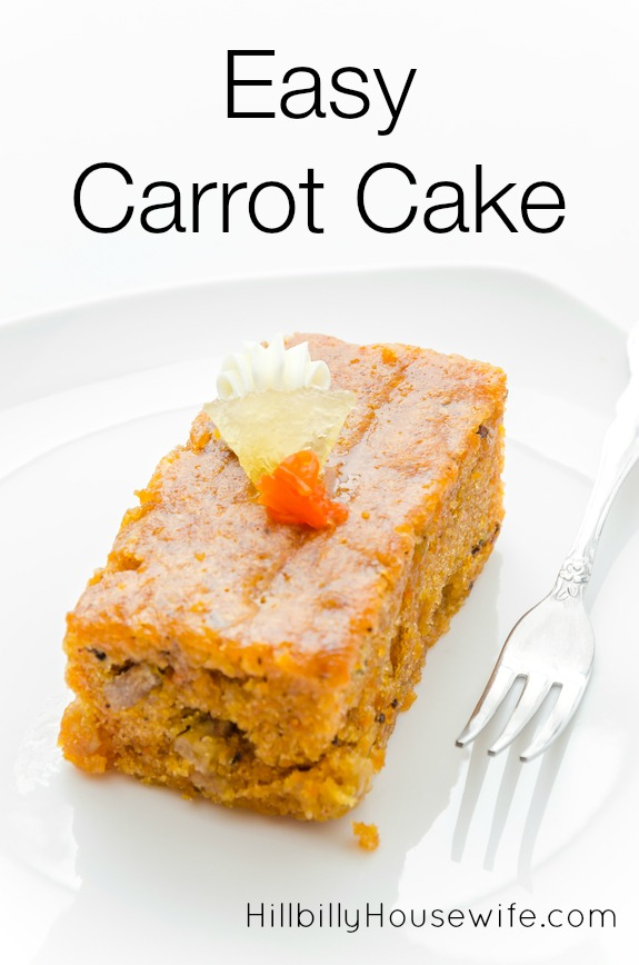 Easy Carrot Cake Recipe Hillbilly Housewife