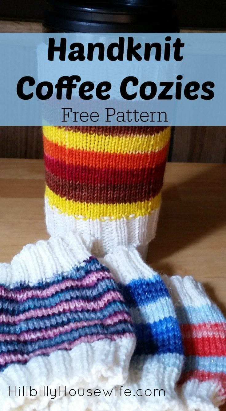 Easy Coffee Cozies Knitting Pattern  Hillbilly Housewife