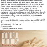 Mindful Intimacy Workshops @ Meditation Bar