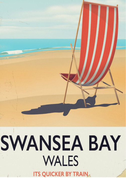 Swansea Bay railway poster
