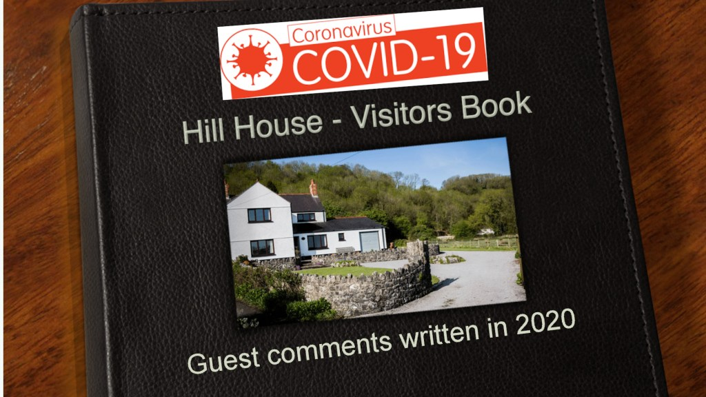 2020 Guest Book Gower Self Catering Holiday Cottage Covid-19