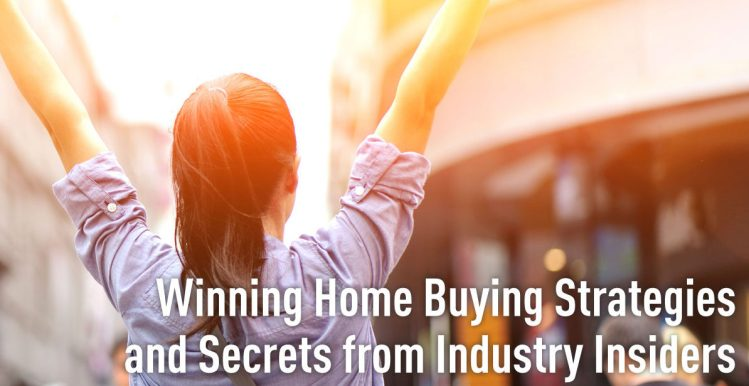 An excited individual holding up her hands because has discovered home buying secrets and strategies