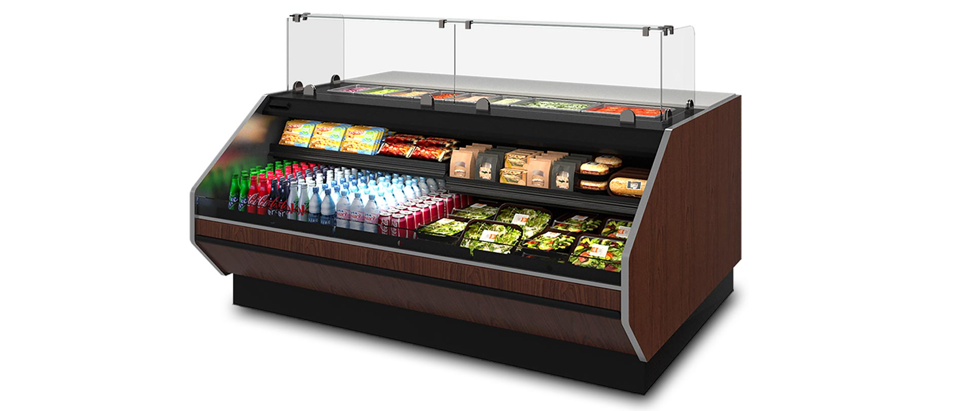 PTSFC Refrigerated Deli Display Case with Prep Counter  HillPhoenix
