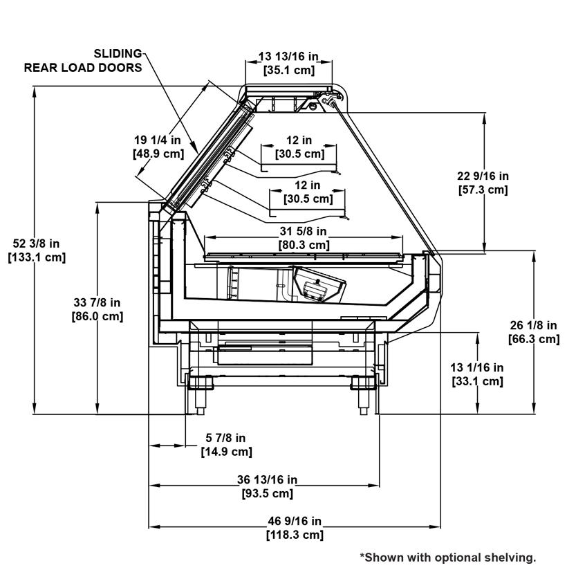 S2SB-R Deli: Multi-Deck Service Deli Display Cooler