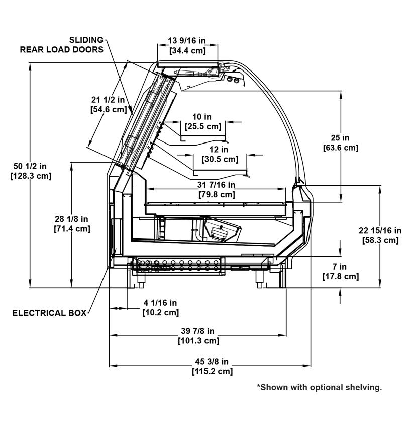 SSA-R Deli: Multi-Deck Refrigerated Deli Display Cooler