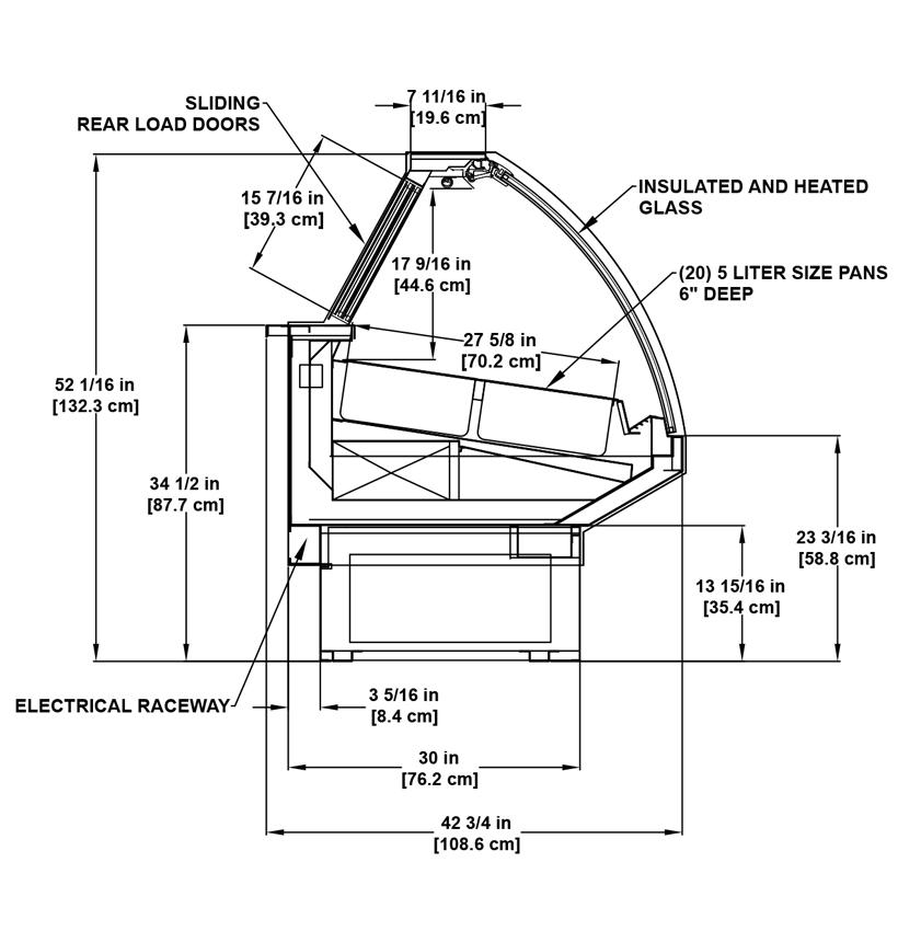 SSD-LT (Gelato) Bakery: Refrigerated Gelato Display Case