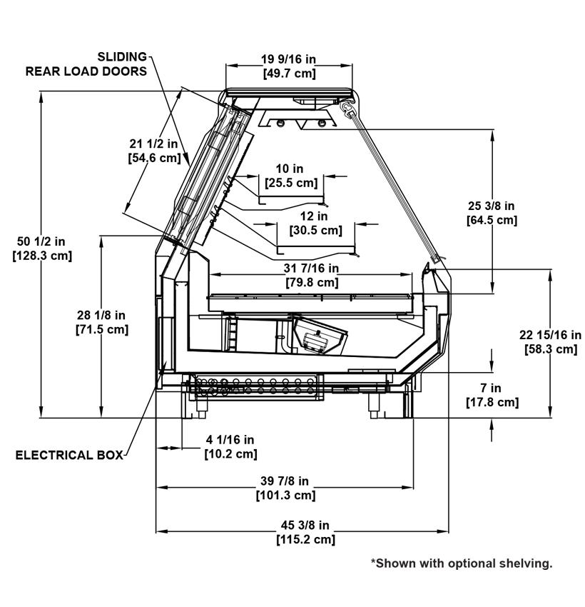 SSF-R Deli: Flat-Lift Glass Deli Display Case