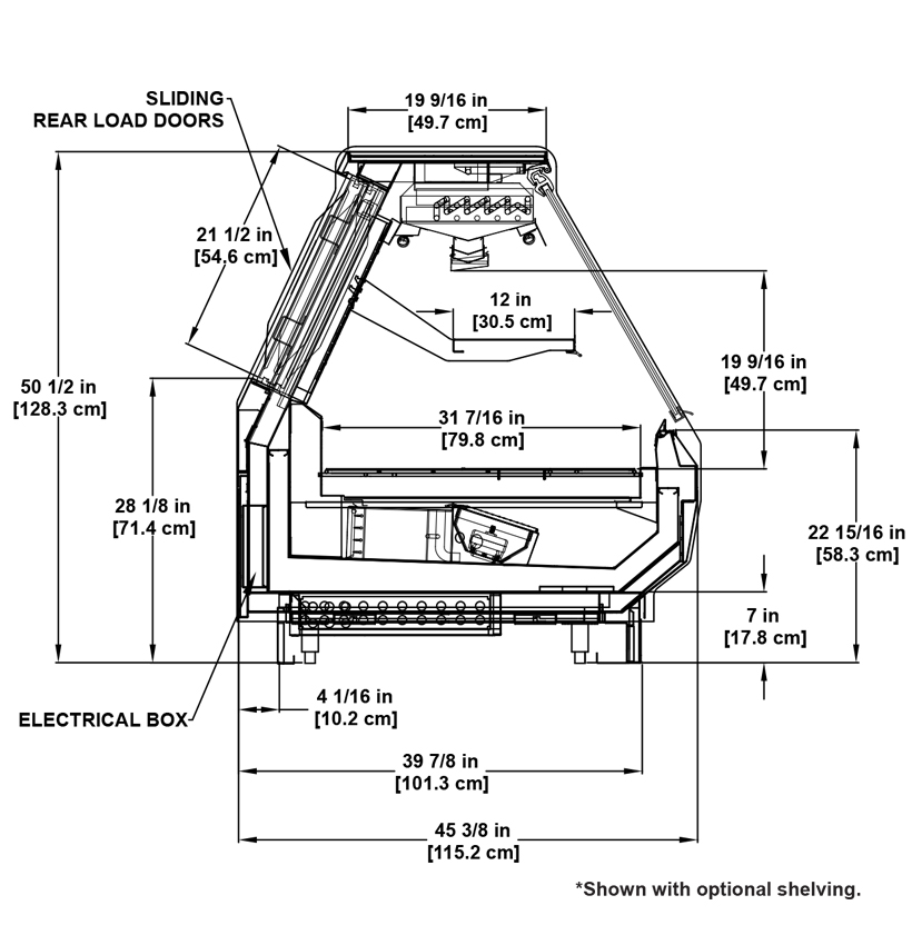 SSF-RG Deli: Refrigerated Flat-Lift Glass Deli Display Case