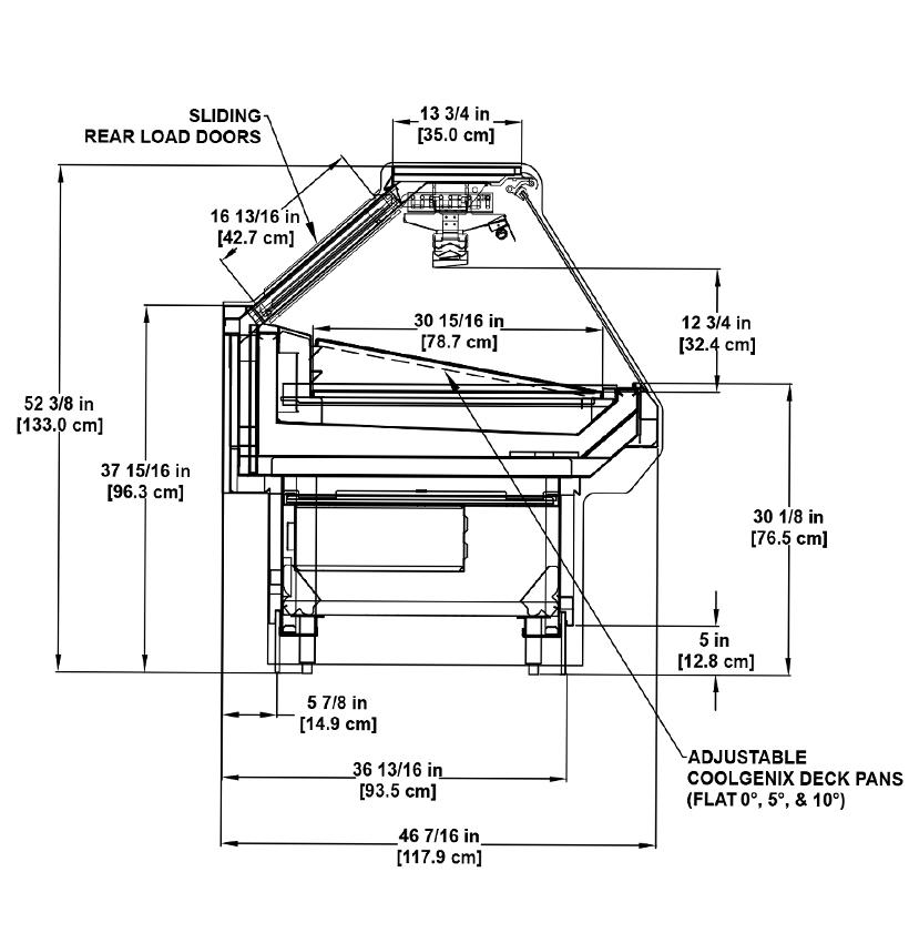 SSGC Meat/Seafood: Coolgenix Single-Deck Display Cooler