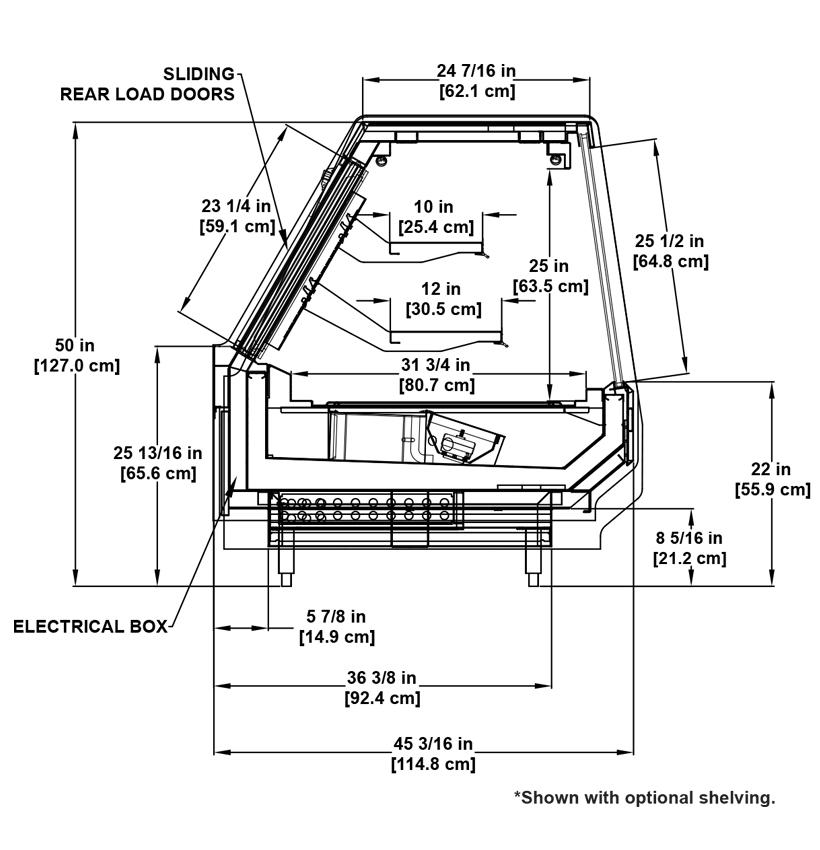 SSM-R Deli: Full-Service, Multi-Deck Deli Display Cooler