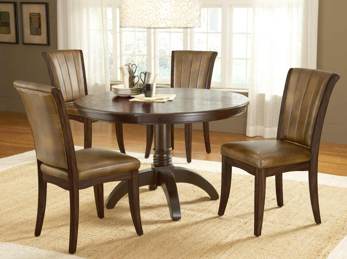 cherry dining chairs reupholster room chair cushion hillsdale grand bay round set with