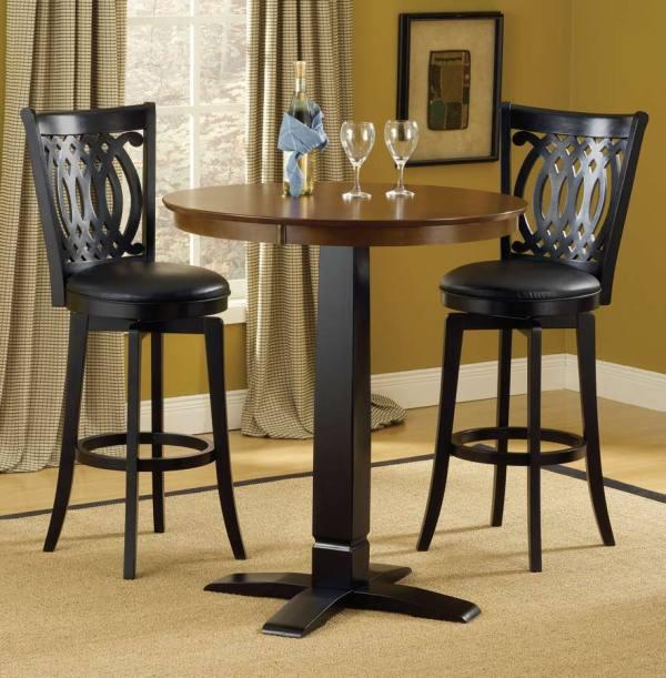 Hillsdale Dynamic Design Pub Table-brown-black 4975-840-842