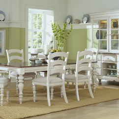 Cheap Pine Dining Chairs Ny Giants Chair Hillsdale Island 7 Pc Set With Ladder Back