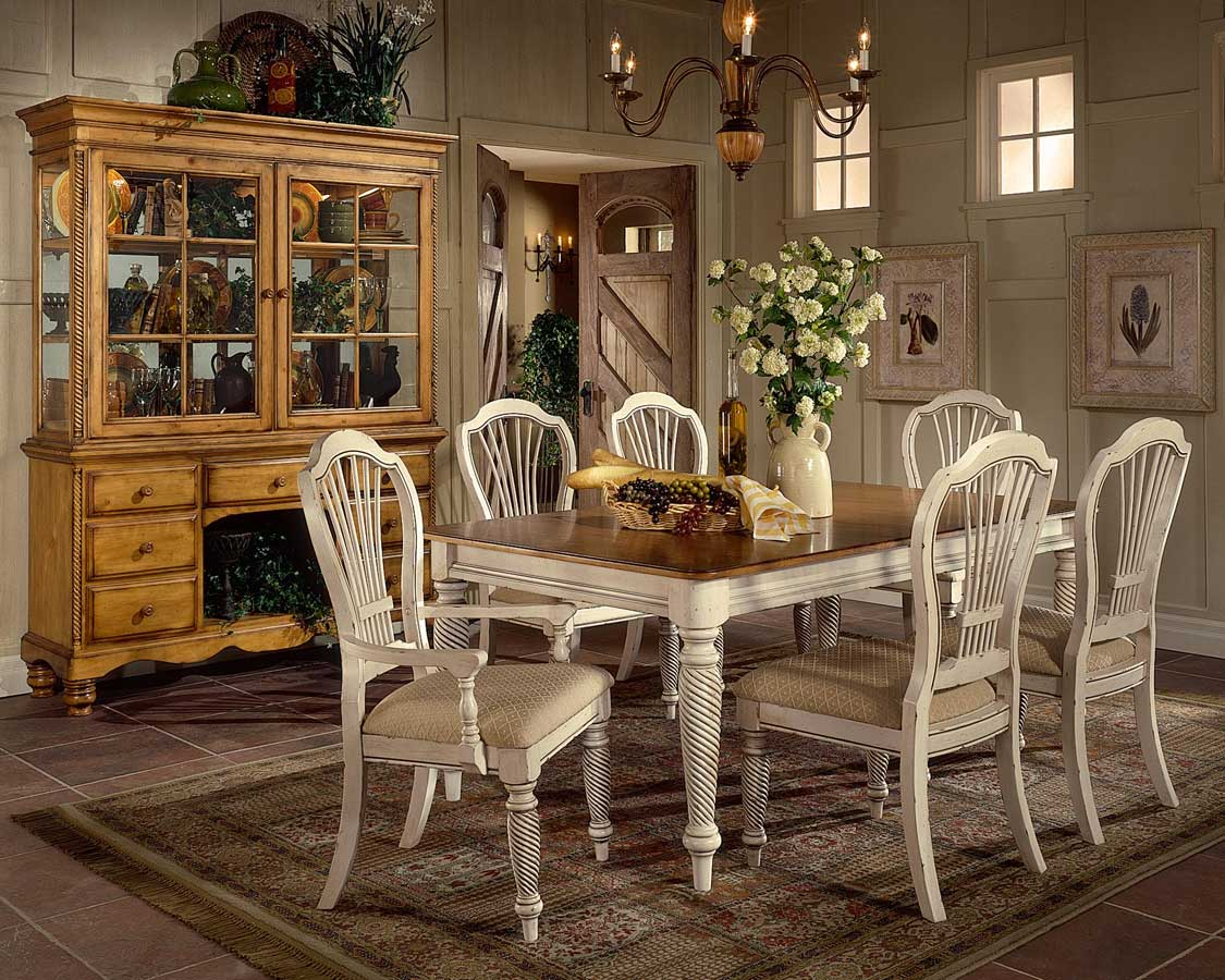 antique white dining chairs rustic table and hillsdale wilshire rectangular