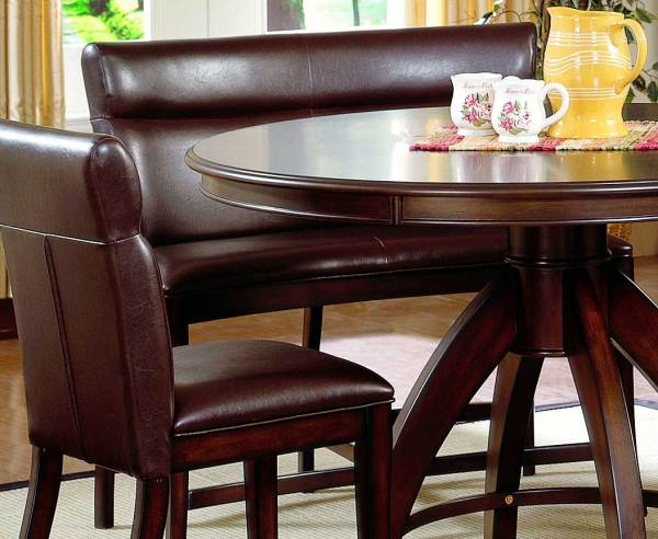 Round Dining Table with Curved Benches