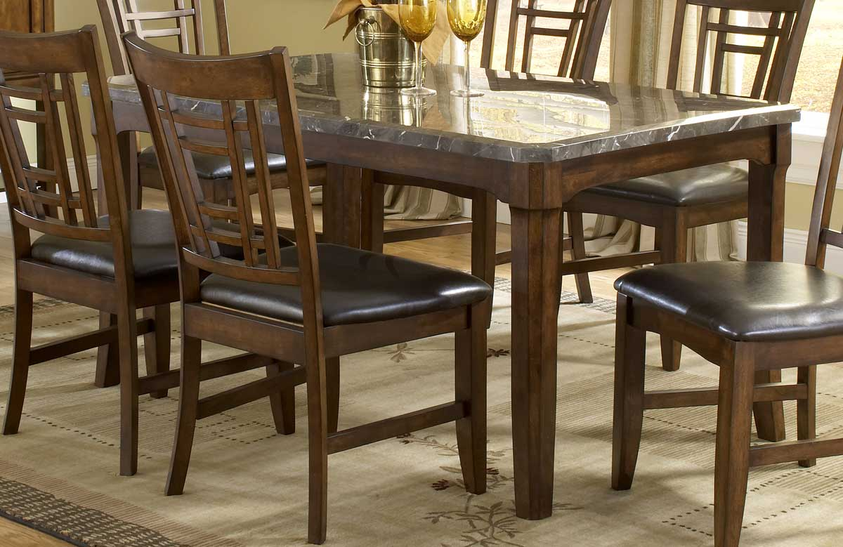 marble top table with 4 chairs hanging chair in bedroom hillsdale patterson rectangle dining 4078