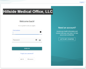 Example Image of our Patient Portal