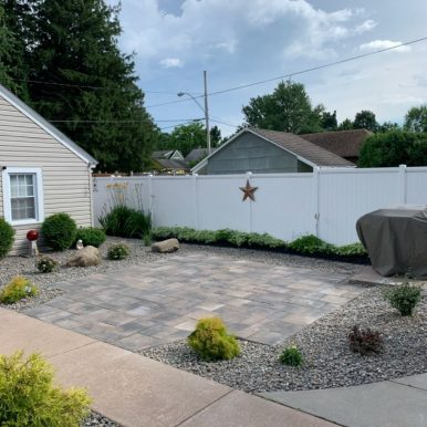 A finished patio by Hillside Seasonal Services