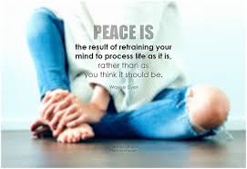 Inner peace is the ultimate goal of life.