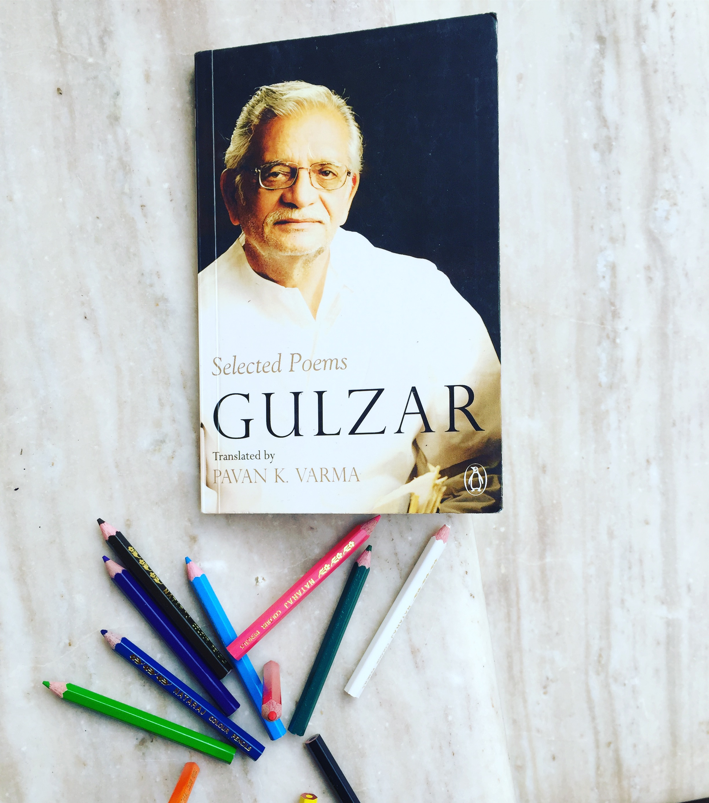 Crayons and selected poems by Gulzar bookreview