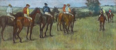 Jockeys by Degas