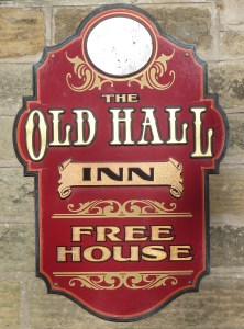 Old Hall Inn sign - Adam Cooper